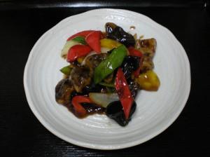 生椎茸と野菜の黒酢煮