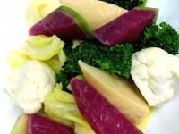 旬野菜の温かいサラダ特製ソースかけ