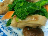 菜の花と若鶏もも肉のあっさり炒め