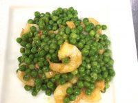 芝海老とグリンピースの炒め物