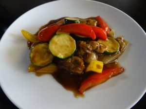 かきと野菜の黒酢煮