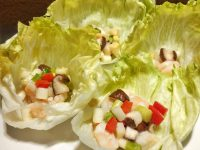 えびと野菜のレタス包み