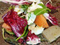 鶏ササミとエビのサラダ・グリーンオニオン&ジンジャーソース風味