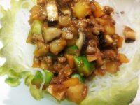 納豆入りジャジャ春雨麺