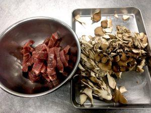 牛肉と舞茸のオイスター炒め