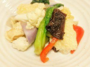 野菜と湯葉の体にやさしい炒め