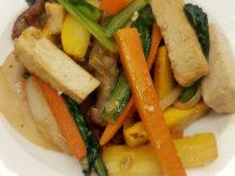 押し豆腐と豚フィレの炒め