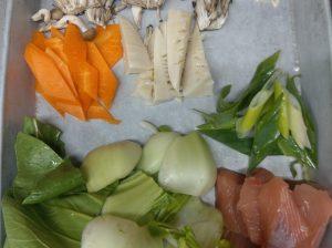 秋サケとチンゲン菜のXOソース炒め