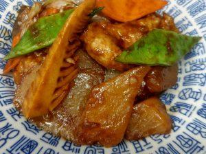 豚フィレとコンニャクの中国ミソ炒め