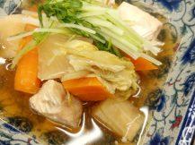 若鶏むね肉とやさいのヘルシースープ