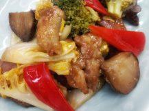 合鴨ロースと菊芋の炒め